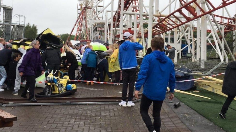 Children injured as rollercoaster derails