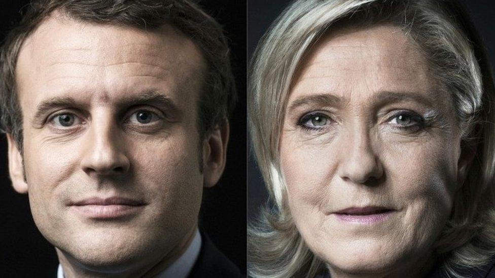 Emmanuel Macron (left) and Marine Le Pen. File photo