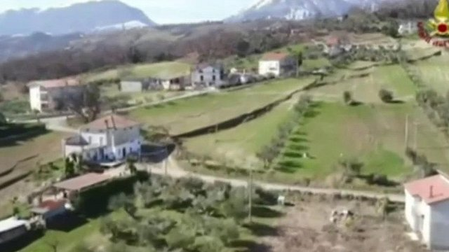 Italian village torn apart by slow-moving landslide