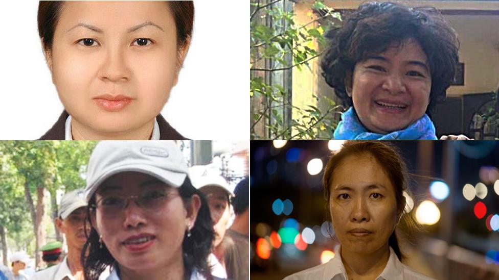 Các gương mặt tù nhân lương tâm là nữ ở Việt Nam