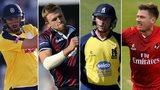 James Vince, David Willey, Ian Bell and James Faulkner