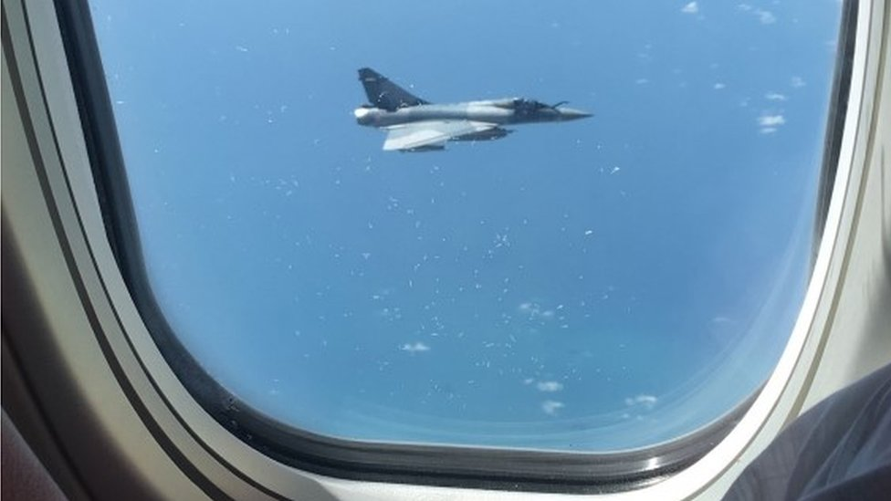 French fighter jet 'tracks' Jet2 flight on route to Birmingham