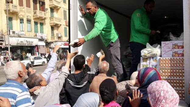 توزيع سلع مدعمة في مصر