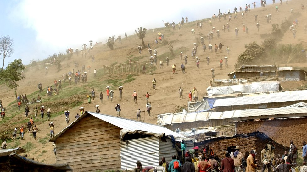 Informal mining operation in DR Congo