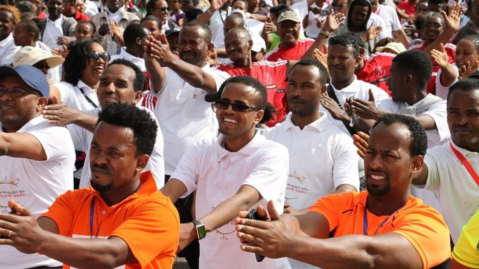 Thousands walk on Ethiopia Car Free Day