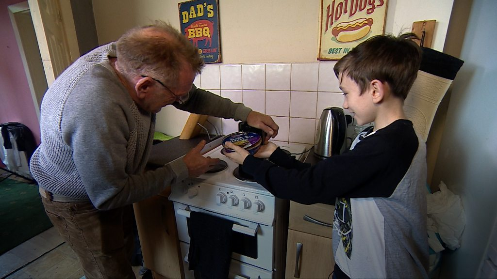 Father 'totally proud' of young carer son | BBC