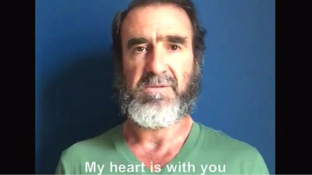 'My heart is with you' - Cantona's emotional message to Manchester