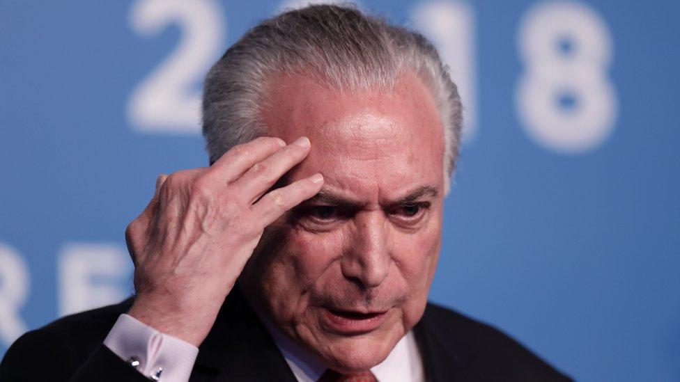 Michel Temer: Brazil ex-president arrested in corruption probe