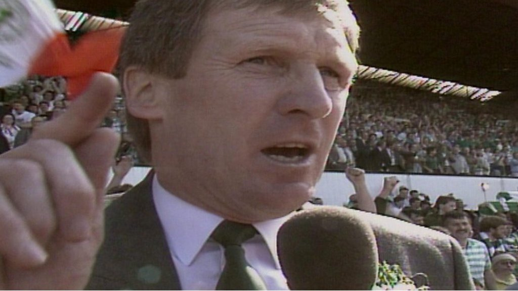 Watch: Celtic manager Billy McNeill celebrates centenary double
