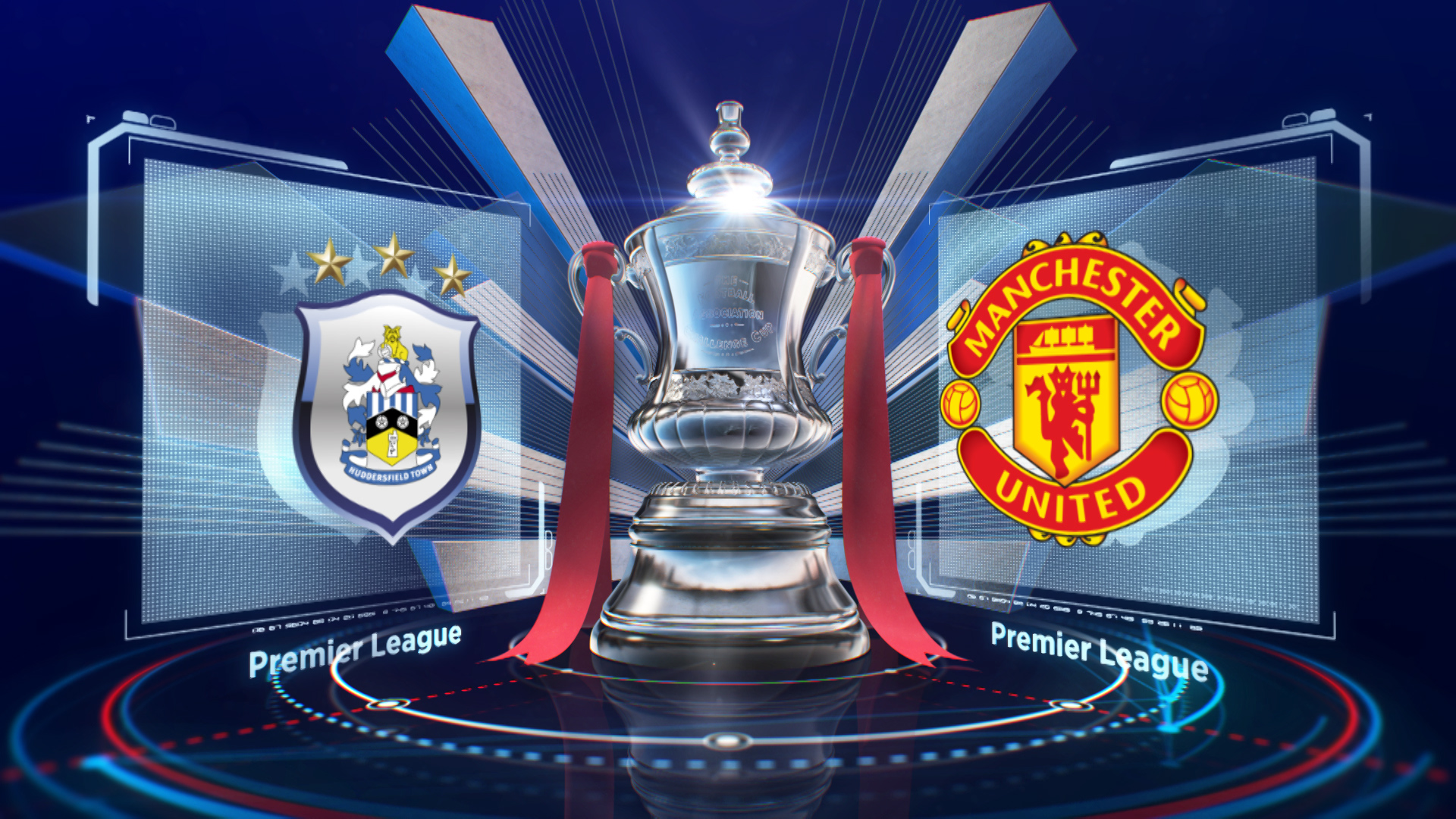 FA Cup Huddersfield v Manchester United in the FA Cup fifth round