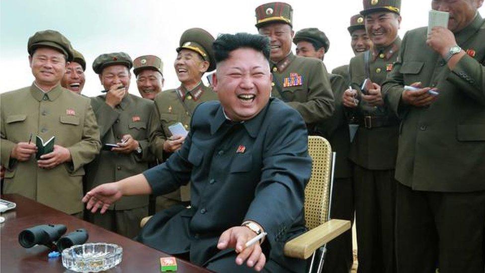 Kim Jong-un seen smoking in 2015