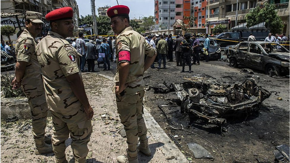 Scene of bomb attack in Cairo (file photo)