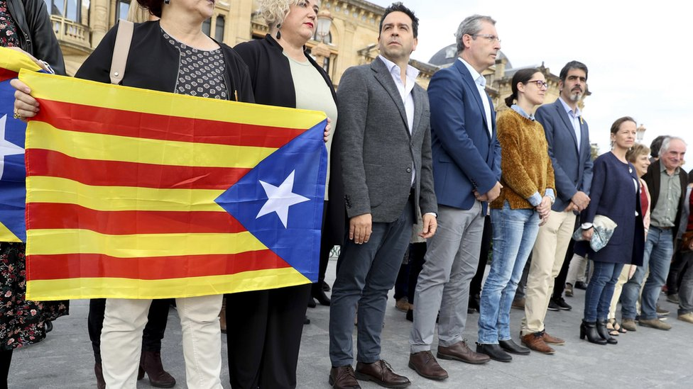 Protesta de los parlamentarios del País Vasco
