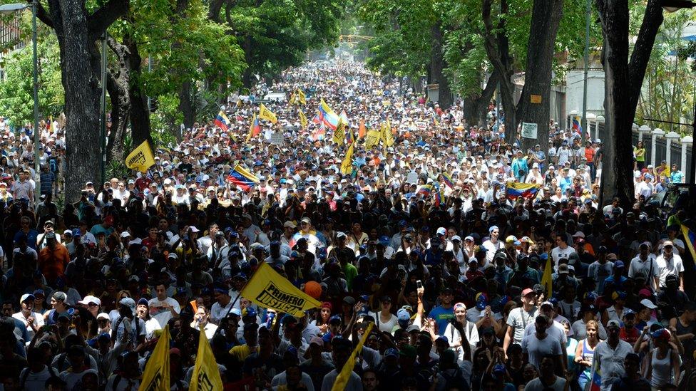Marcha de la oposición