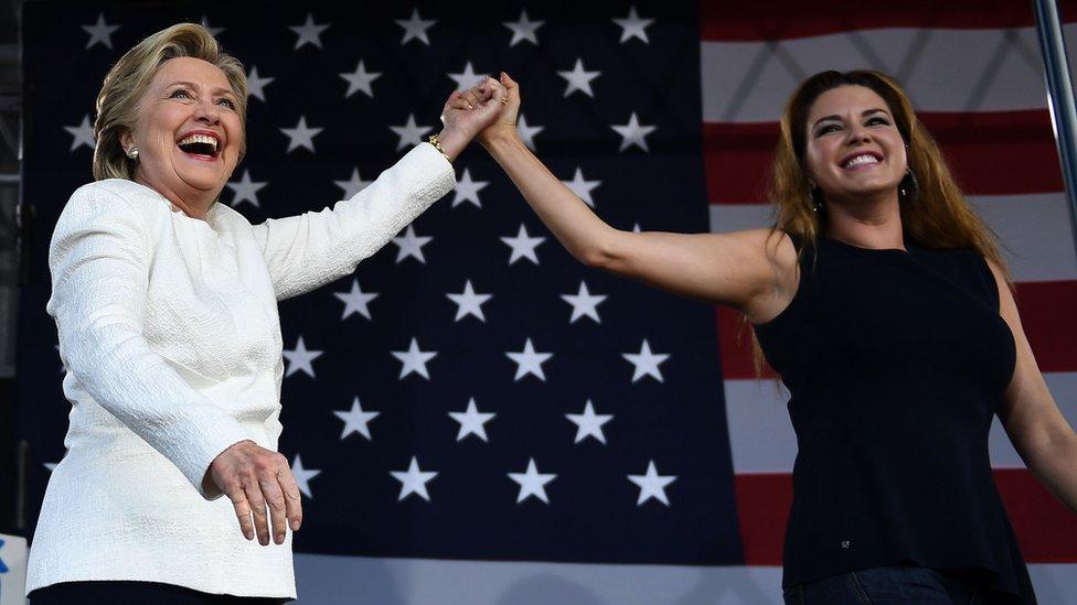 La ex Miss Universo venezolana Alicia Machado apoyó a Hillary Clinton en la campaña de 2016 y protagonizó una polémica con Donald Trump.