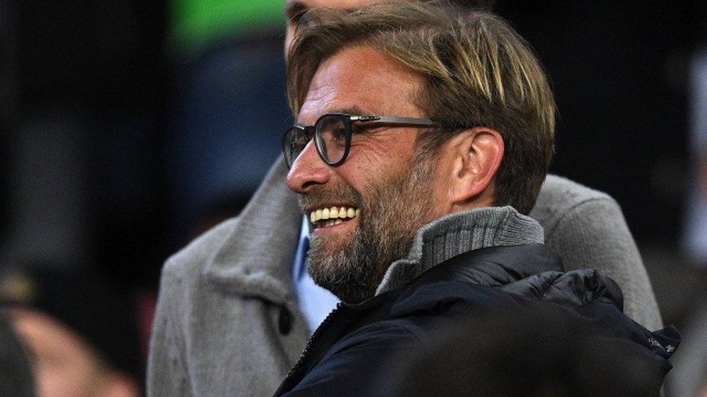 Day trippers: Liverpool squad watch Barca dispatch Gladbach