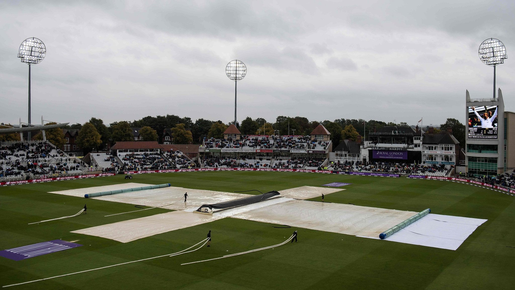England v West Indies: Second ODI washed out at Trent Bridge