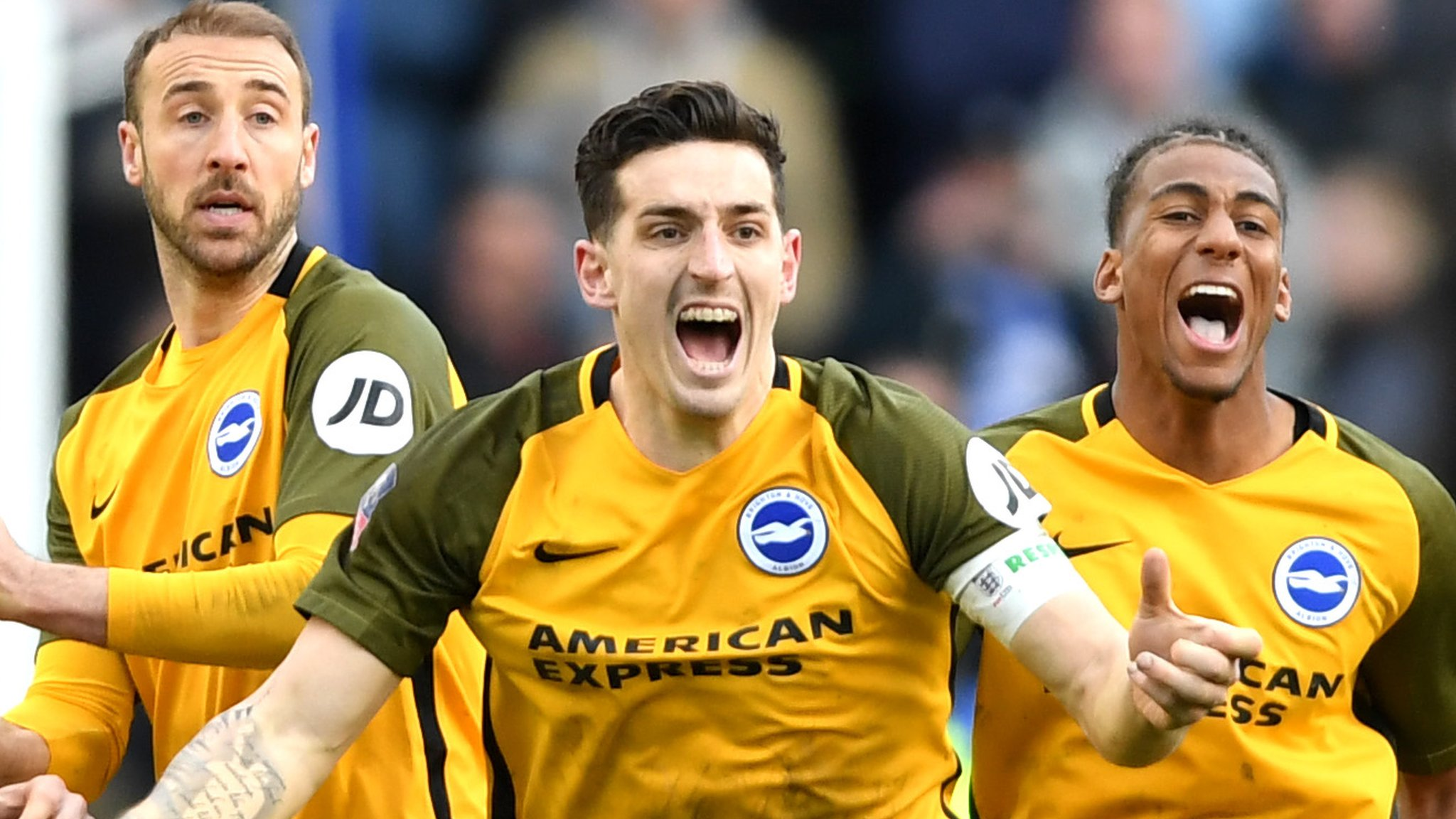 b1d4ad26a97c5e Millwall 2-2 Brighton (pens 4-5)  Brighton into FA Cup semi-finals on  penalties - Brighton make the FA Cup semi-finals via a penalty shootout  following a ...