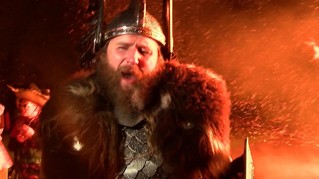 Shetland celebrates the Up Helly Aa Viking fire festival
