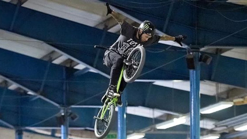 Smashed teeth, a broken hip - the brutal life of a freestyle BMX rider