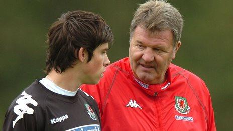 John Toshack with Gareth Bale