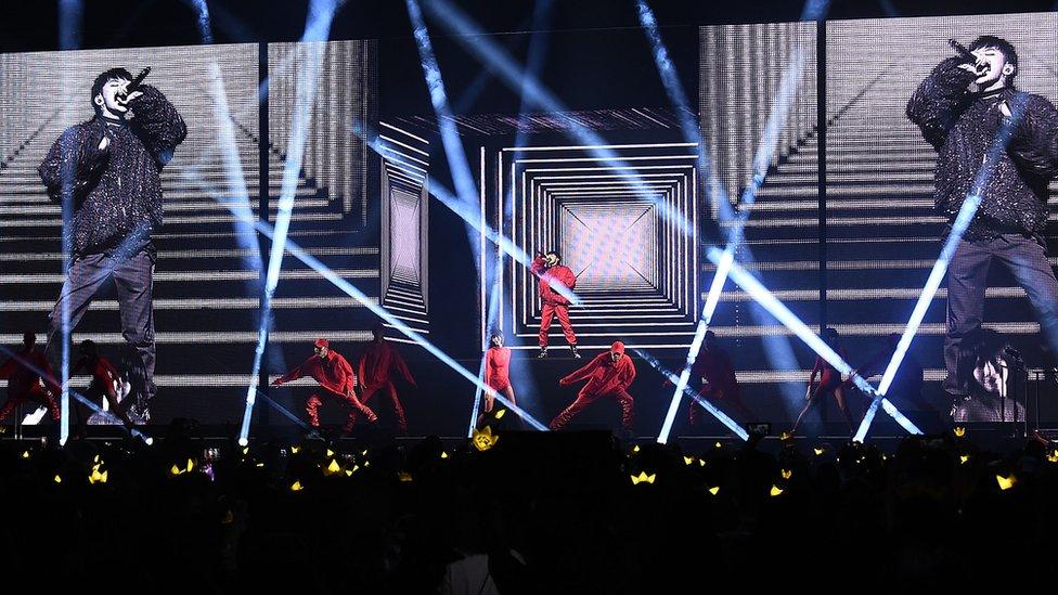 韓國男星權志龍(G-DRAGON)今年六月在紐約舉行演唱會。