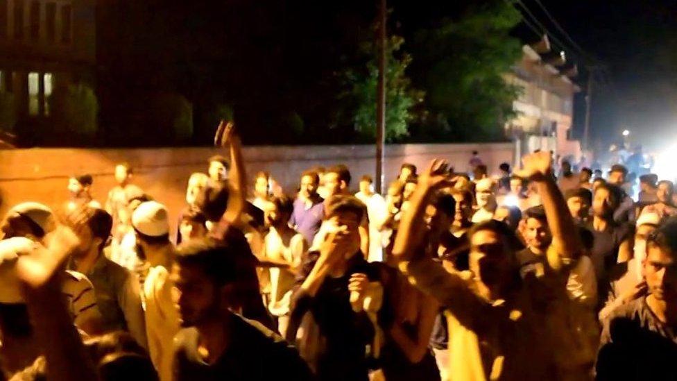 پاکستان کی فتح پر کشمیر میں جشن