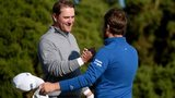Marc Warren is congratulated by Tyrrell Hatton