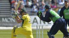 Australia batsman Joe Burns watches as Niall O'Brien attempts a stumping