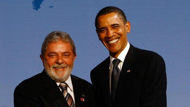 Lula de Silva con Barack Obama
