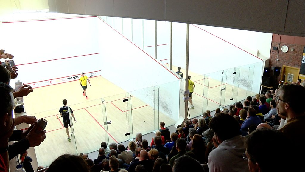 Why hundreds are watching squash in Cardiff