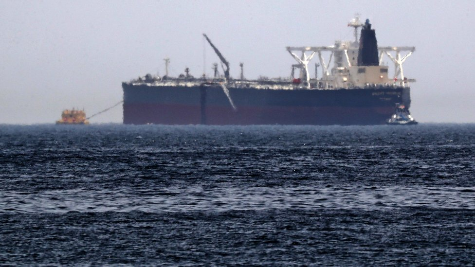 'Sabotaged' tanker in Gulf of Oman leaked oil