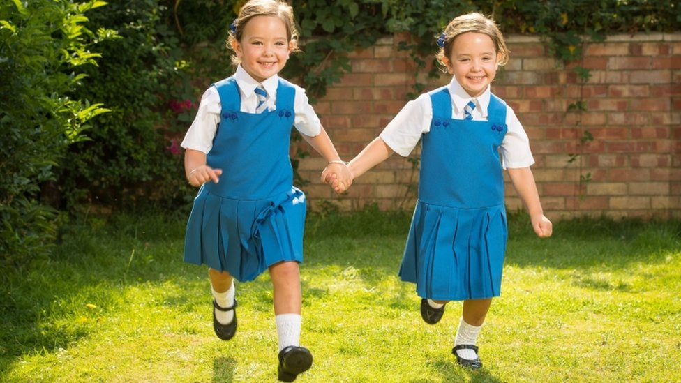 Twins conjoined at birth prepare to start school