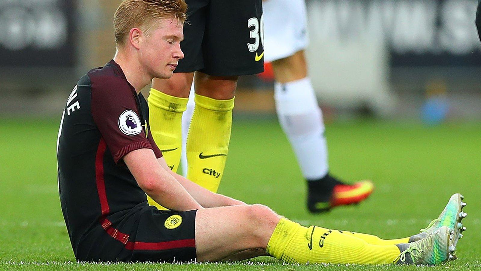 Kevin de Bruyne: Manchester City wait on news of midfielder's hamstring injury
