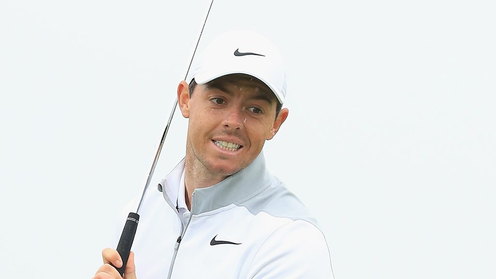 The Open 2018: Rory McIlroy birdies seventh after 'wonderful' approach