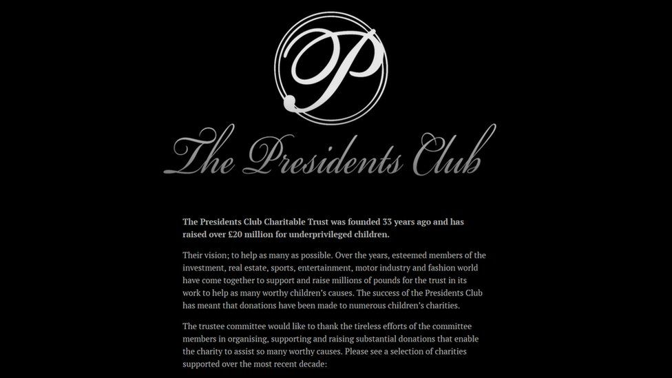 Descripción de The Presidents Club (Foto: Página web de The Presidents Club).