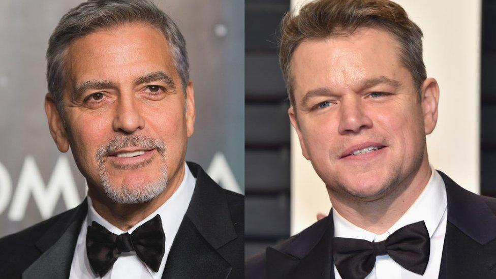 George Clooney and Matt Damon headed for Venice