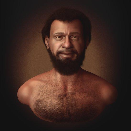 Ilustración de un rostro que podría ser el de Jesús.