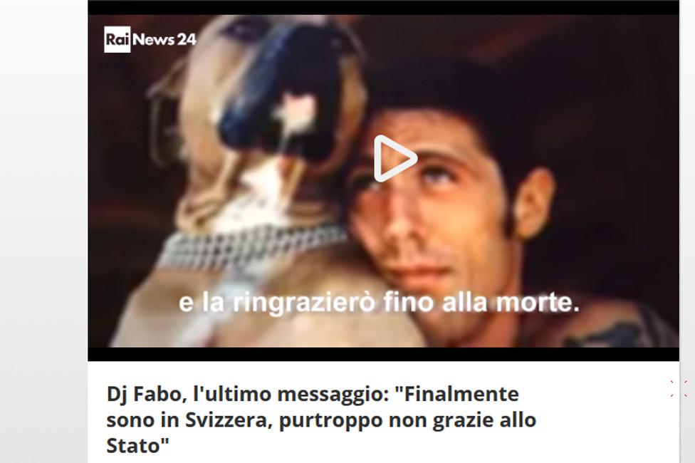 El sitio web de Rai 24 publicó el audio con el último mensaje de DJ Fabo.