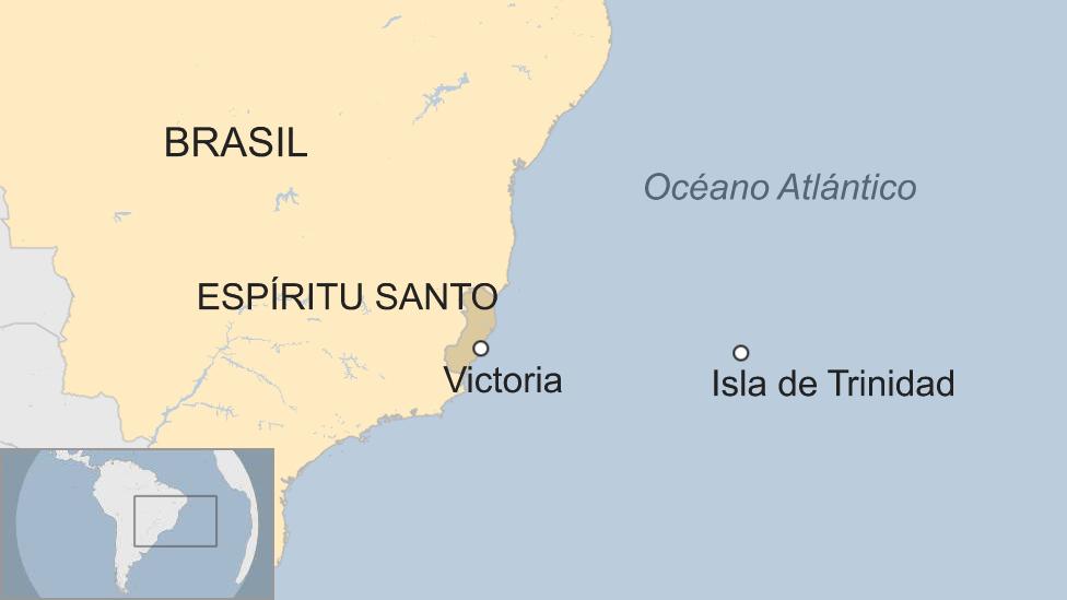 Ubicación de Victoria y de la Isla de Trinidad