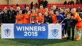 Glasgow City players celebrate with the Scottish Women's Cup