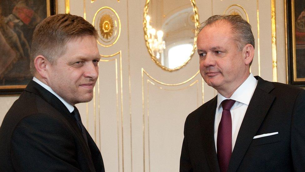Slovak Premier Robert Fico and President Kiska