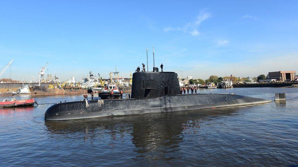 El submarino Ara San Juan.