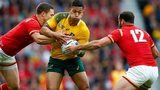 Israel Folau tackled by George North