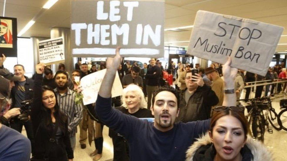 احتجاجات على قرار ترامب