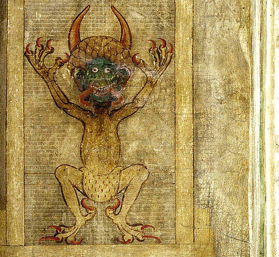 Dibujo del diablo en el Codex Gigas