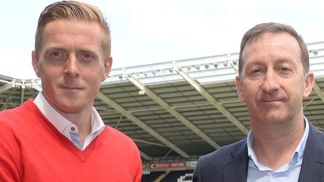 Garry Monk (left) with Huw Jenkins