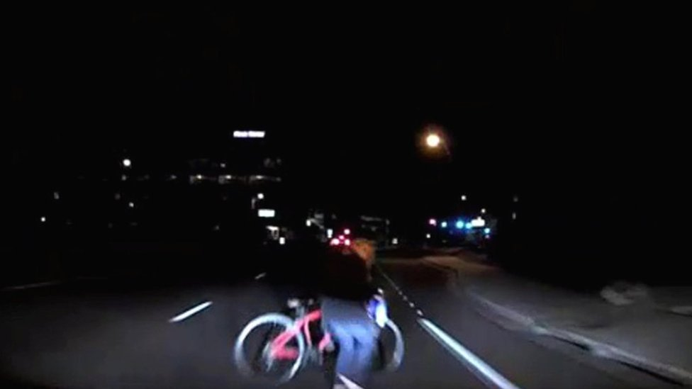 Uber self-driving crash: Footage shows moment before impact