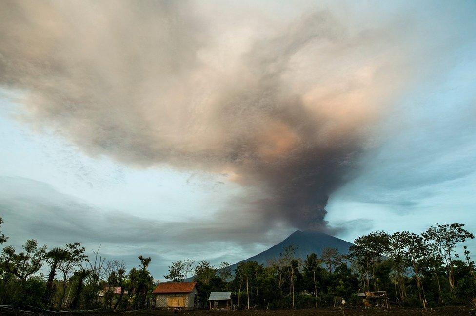 Volcan Agung en Bali