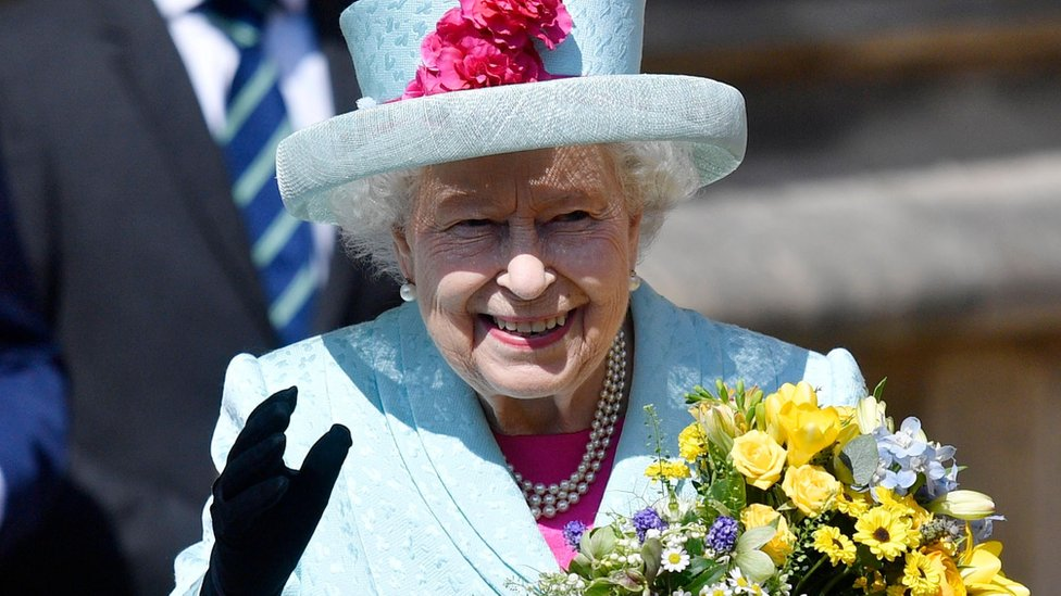 The Queen attends an Easter service on her 93rd birthday